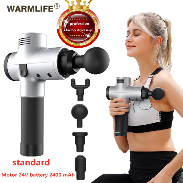 EMS Massage Gun Cordless Rechargeable Muscle Stimulator Deep Tissue Massager  Body Relaxation Slimming Shaping Pain Relief