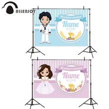 Allenjoy Econ полиэстер фотозоны баннер для мальчиков и девочек в полоску горошек Мое Первое причастие праздничные шторы принцесса праздновать события Декор