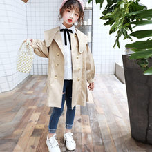 Girls Trench Coats Double Breasted Jackets For Girls Clothing Tops Kids Windbreaker Spring Autumn Outerwear Kids Clothes Jacket