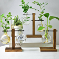 1 Набор стеклянная ваза для дома и сада  стеклянный гидропонный контейнер  настольная прозрачная стеклянная ваза  цветочный горшок  домашни...