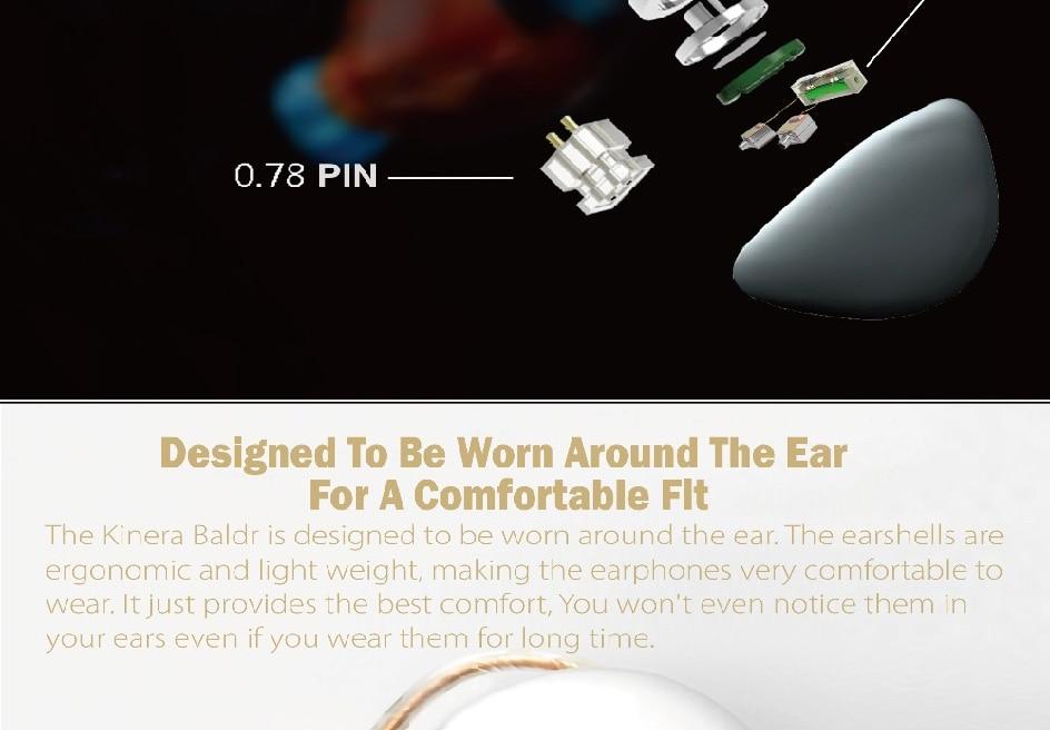 híbrido de alta fidelidade no ouvido com
