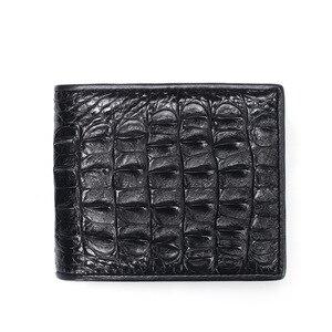 Мужской кошелек из натуральной кожи, Роскошный кошелек из крокодиловой кожи, модная сумка с отделением для карт, отделение для банкнот