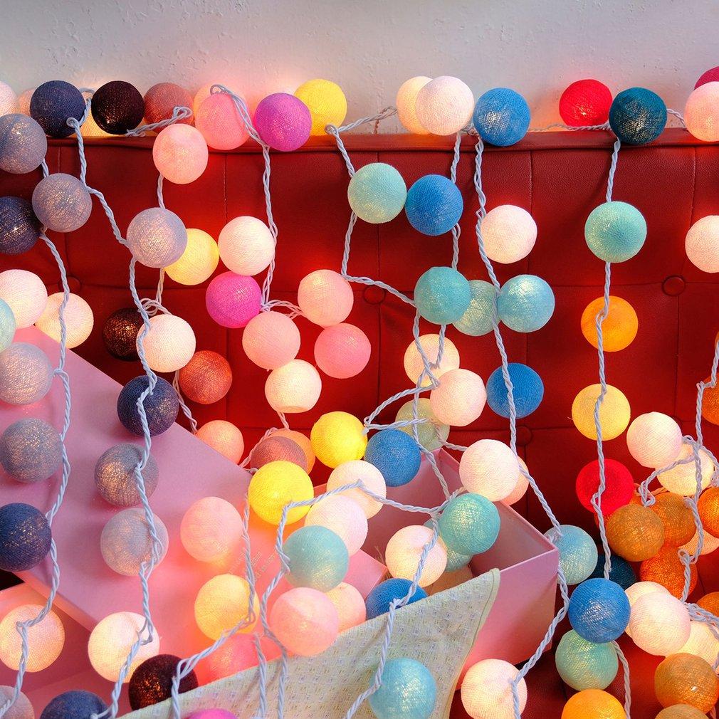 Thailand Cotton Ball Wave Lamp LED Flash String