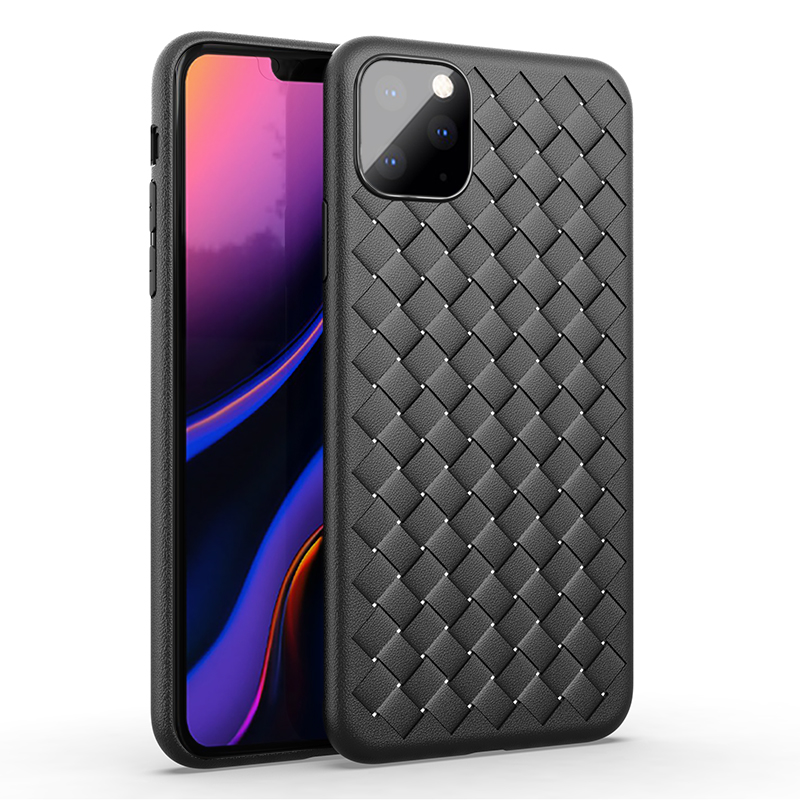 For Apple Iphone 11 Case Luxury BV Grid Weaving Slim Soft Protective Back Cover Case For IPhone 11 Pro Max Iphone11 11Pro Shell