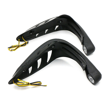 1 Pair Motorcycle Hand Guards Handlebar Protector with LED Lights Motor Handguards Motocross Accessories