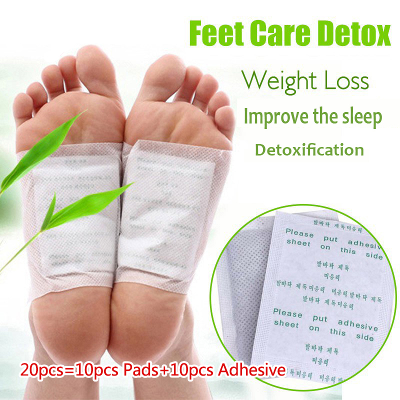5pairs Detox Foot Patches Pads Body Toxins Feet Slimming Cleansing HerbalAdhesive