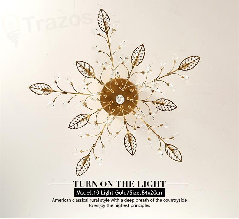Hbab419b48df1419993640e903856e23bS TRAZOS New item fancy ceiling light LED Crystal ceiling lamp modern lamps for living room lights,AC110-240V DIY Crystal lighting
