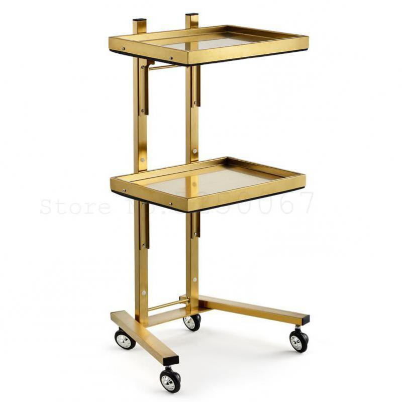 New Stainless Steel Beauty Salon Cart Haircut  Folding Tool  Hair  Special Hot Dyeing Car