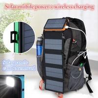KERNUAP cargador inalámbrico Solar panel Solar plegable 12W de potencia de batería Solar 50000mah Celles Teléfono Universal cargador tipo batería externa