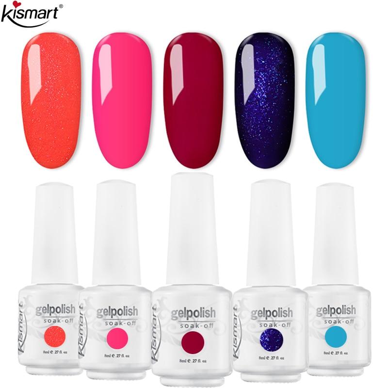 Kismart Any 1PC Nail Gel Polish 8ml UV Gel 369 Colors Nail Polish Lacquer Soak off Painting Gel LED Hybrid Nail Art Resin Primer