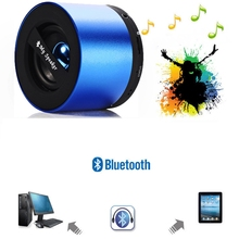 Portable Bluetooth Speaker Wireless Home Outdoor Mini Blue Metal Bass