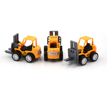 1Pc Forklift Vehicle Sets Mini Engineering Vehicle Model Car Toys Car Toys Kids Educational Toys for Children image