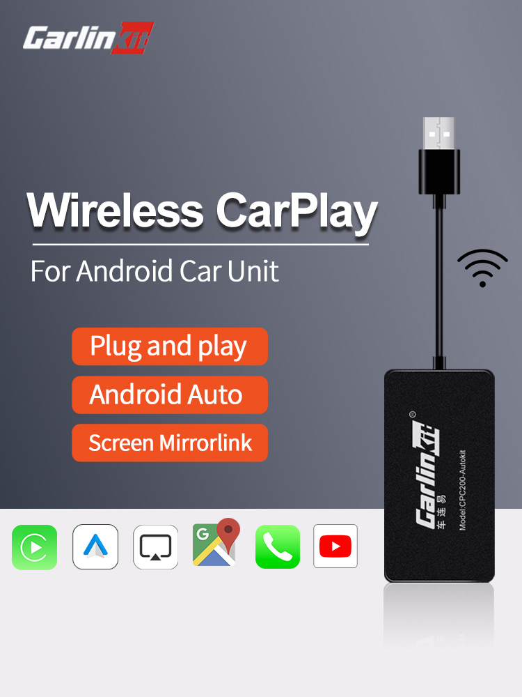 Android Auto Mirror-Kit Dongle Car-Services Apple Carplay Carlinkit iPhone Wireless USB