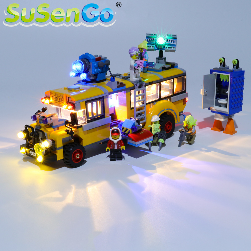 SuSenGo LED Light Kit For Paranormal Intercept Bus 3000 Building Blocks Lighting Set Compatible With 70423  (Model Not Included)
