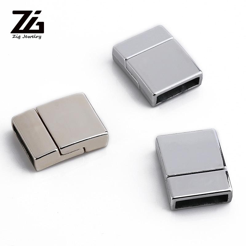 ZG 13*20mm European Hot Design Bracelet Buckle Leather Bracelet Clasp Metal Magnetic Clasp Rectangle Jewelry Clasps
