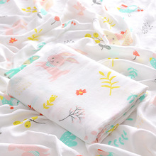 Blanket Baby Swaddle Bath-Towel Muslin Wrap Newborn-Products Cotton Bedding Double-Bamboo