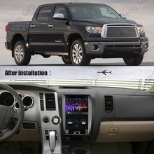 Per Toyota tundra Sequoia 2007 - 2013 Radio Android Car Multimedia Player Audio Tesla Touch Screen PX6 autoradio GPS Navi unit