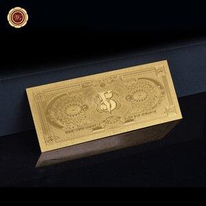 WR Поддельные Банкноты, Коста-Рика, золотая фольга, банкноты с Coa-рамкой, невалютные банкноты, реквизит, деньги, доллары, сувенир, подарок для м...