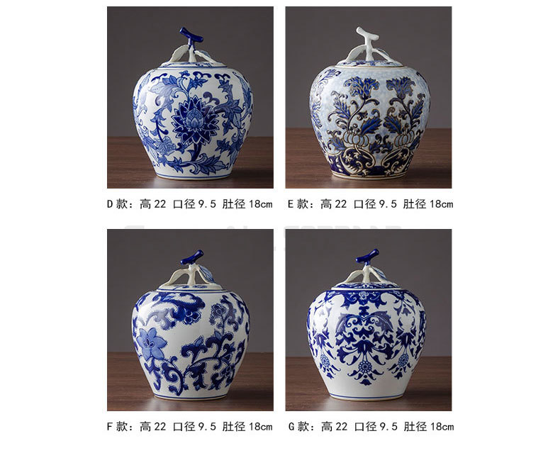 cerâmica frasco de armazenamento com tampa decoração do desktop