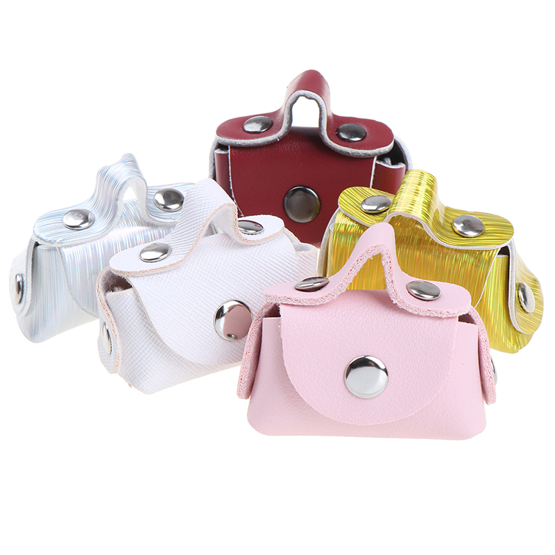 1 Pcs/lot Fashion 1/6 Doll Accessories Doll Handbag Lady Leather Bag Purse Accessories Dollhouse Kids Toy