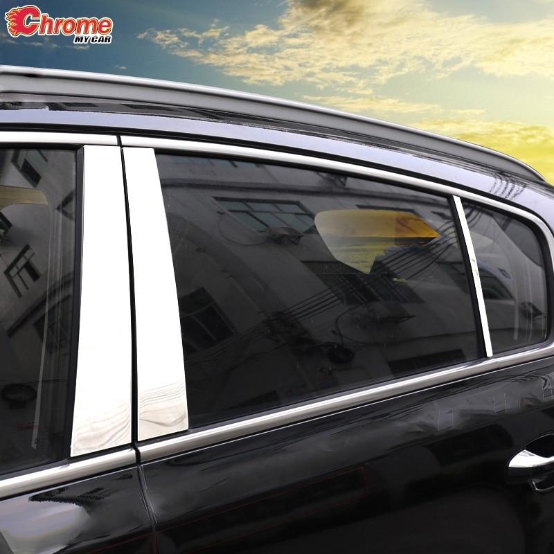 Für Kia Sportage QL 2017 2018 2019 2020 Edelstahl Fenster Säule Beiträge Chrome Trim Abdeckung Molding Schutz Dekoration Auto Styling