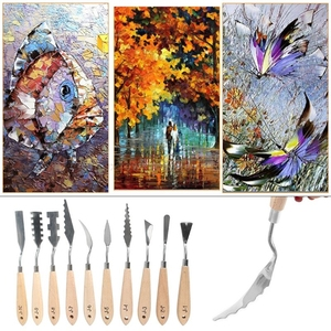 Image 5 - 10 יח\סט נירוסטה ציור צבעים סכין שמן צבע מרית מגרד כלים J20 20 Dropship