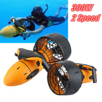 Waterproof 300W Electric Underwater Scooter Water Sea Dual Speed Propeller Diving Pool Scooter Water Sports Equipment US/EU