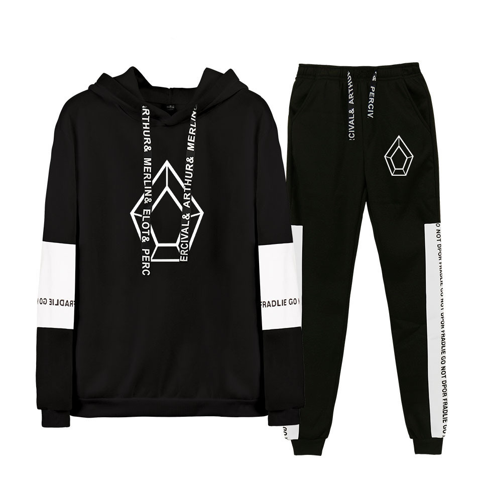 2019 Hot Sales Pentagon Chinese Japanese Korean Men Groups Related Products Casual Sports Joint Hoodie Suit