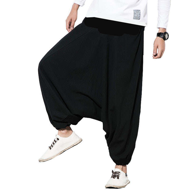 14 colors Plus size men's loose casual cotton cross pants, M-5XL Aladdin Lantern Wide Leg Trousers hip hop dancing Harem Pants