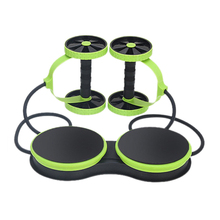 New Muscle Exercise Equipment Home Fitness Equipment Double Wheel Abdominal Power Wheel Ab Roller Gym Roller Trainer Training high quality adjustable multifunction fitness abdominal exercises double ab roller