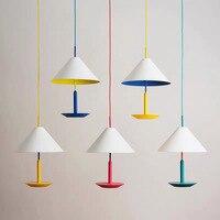 Scandinavian Art Colored Metal Chandelier Creative Living Room Pendant Lamp Clothing Store Modern Designer Hanging Light Fixture