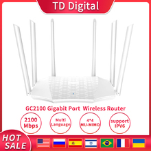 GC21 Gigabit Repeater AC2100 Wireless Powerful Wifi Router with 6*6dBi High Gain Antennas IPV6,Poytep wifi easy setup