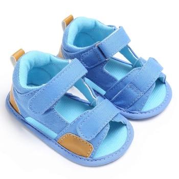Baby Boys Denim Toddler Canvas Infant Kids Girl Sole Crib Sandals Shoes