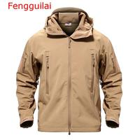 Fengguilai Army Camouflage Men Jacket Coat Military Tactical Jacket Winter Waterproof Soft Shell Jackets Windbreaker Hunt Clothe