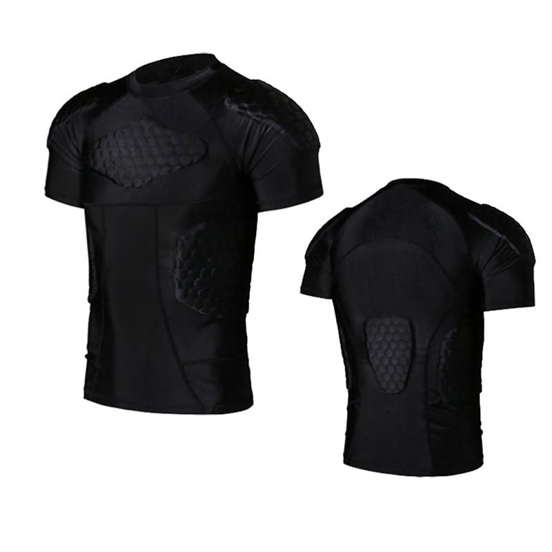 Outdoor Men Tactical Vest Bulletproof Quick-drying Honeycomb O-neck Collision Vest Tight Jackets Short Sleeve