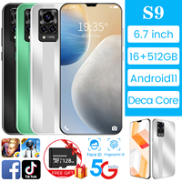 2021 versione globale nuovo Smartphone 5G da 6.7 pollici 16GB 512GB grande memoria per cellulare Vivo S9 telefono cellulare Huawei Xiaomi Samsung