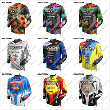 RACESTARS Motocross MTB Jersey Men Motorcycle Mountain Bike Team Downhill Jersey MTB Offroad DH MX Bicycle Long Motorcycle Shirt cheap Polyester Full Unisex RACESTARS - Motocross Jersey Spring summer AUTUMN Winter No Zipper Fits larger than usual Please check this store s sizing info