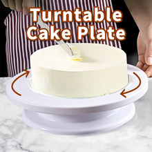 Meijuner prato de bolo turntable anti-skid redonda carrinho de bolo de mesa de gerencio bolo de decoração pan diy ferramenta de cozimento gadgets de cozinha
