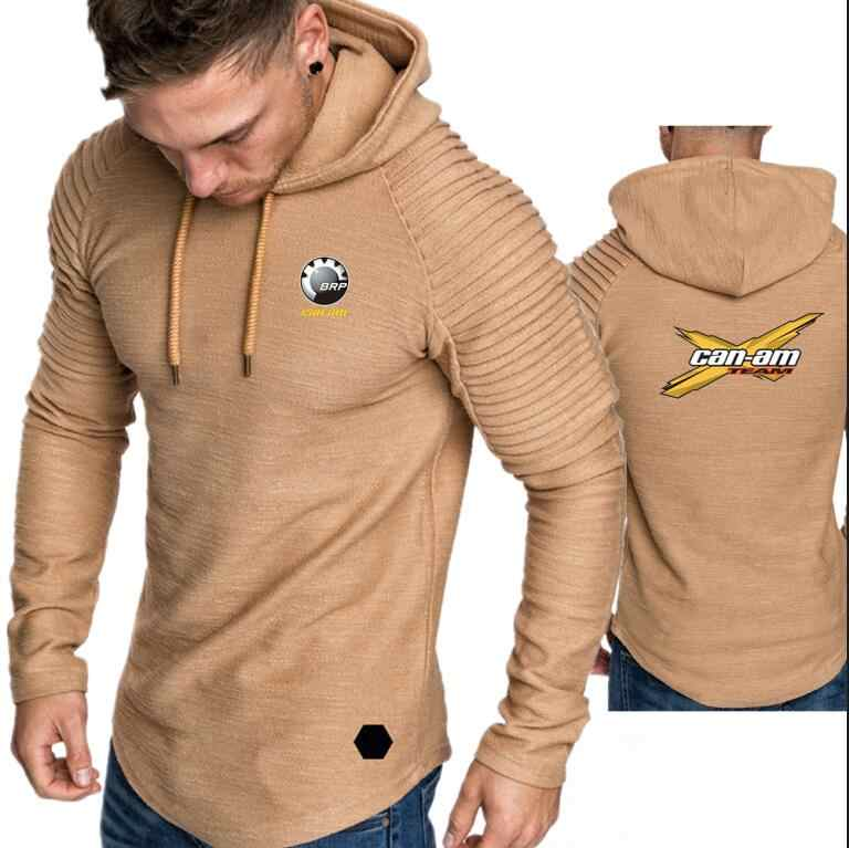남성 후드 티 겨울 스웨터 가을 두꺼운 따뜻한 패션 캐주얼 유행 streetwear 풀오버 tracksuit brp can-am 팀 인쇄 까마귀