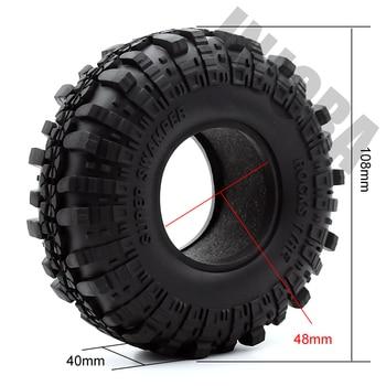 "4PCS 1.9"" Rubber Tyre / Wheel Tires for 1:10 RC Rock Crawler Axial SCX10 90046 AXI03007 Tamiya CC01 D90 D110 2"