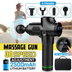 4000р/мин мышечный массажер электрическая терапия тело светодиодный массаж мышц пистолеты 30 файлов расслабляющий тело расслабляющий массаж ...