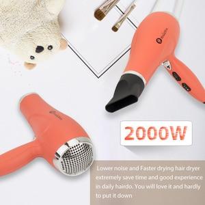 Image 5 - Asciugacapelli professionale Rose Golden 2000w ad alta potenza motore a corrente continua Hotel ionico asciugacapelli volumeizzatore in capelli rosso corallo Diva