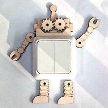 Quebra-cabeça suprimentos scrapbook chips de madeira peças de madeira pai-filho artesanato para casa casamento criança educação ornamentos