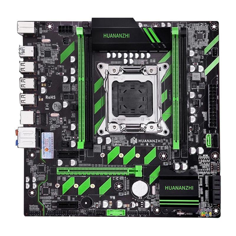 Huananzhi X79 Motherboard X79 LGA2011 ATX SATA3 USB3.0 Dual PCI-E 16X NVME M.2 SSD Support REG ECC RAM Xeon E5 CPU