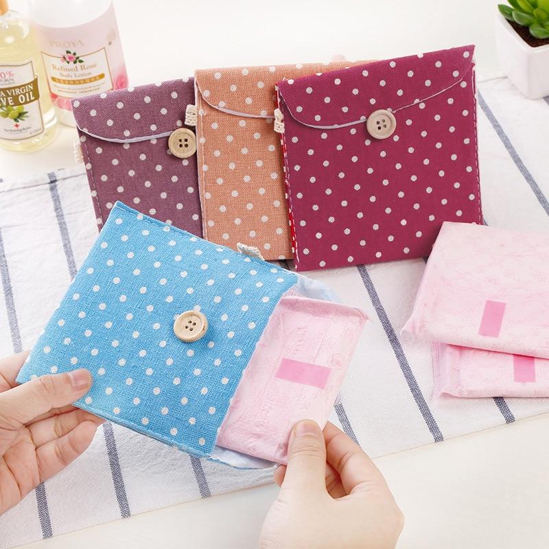 Girl Diaper Sanitary Napkin Storage Bag Mian Cloth Sanitary Napkin Packaging Bag Coin Wallet Jewelry Bag Credit Card Bag
