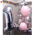 1 комплект наряд для первого дня рождения воздушные шары для праздника вечерние 1st номер День рождения вечерние украшения Детские латексные...