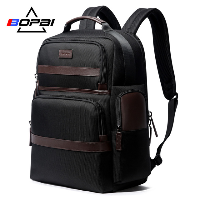 BOPAI Anti thief USB Charging 15.6 Inch Laptop Backpack for Women Men Cool Travel Backpack with Water Bottle Pocket Male Mochila