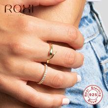 ROXI – bagues Punk Vintage en argent Sterling 925 pour femmes, anneau ouvert ajustable avec Animal, bijoux de déclaration