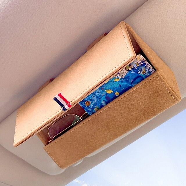 Car Glasses Box Storage Holder Sunglasses Case For chrysler 300c 200 pacifica 4