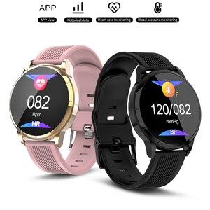 2020 Смарт-часы для женщин и мужчин фитнес-Браслет Шагомер монитор сердечного ритма во время сна умные часы для Huawei Samsung VS Galaxy Watch